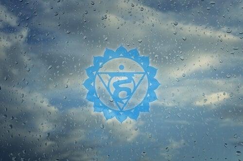 Symbolet for chakraen Vishudda