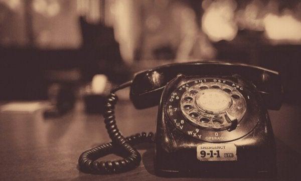 En gammel telefon