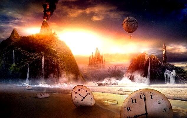 Landskab med hav og ure illustrerer særheder om drømme