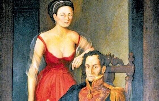 Manuela Sáenz og Simón Bolívar forelskede sig med det samme