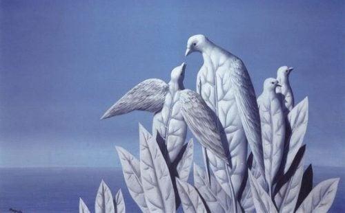 Fugle lavet af blade