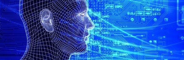 Menneske og teknologi i blåt