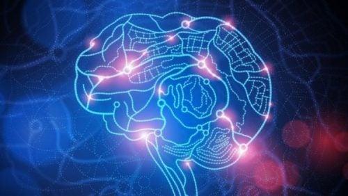Oplyst hjerne, der viser ydmygelse