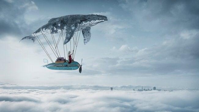 Mikrohistorier, som denne med en flyvende hval, får os til at fantasere