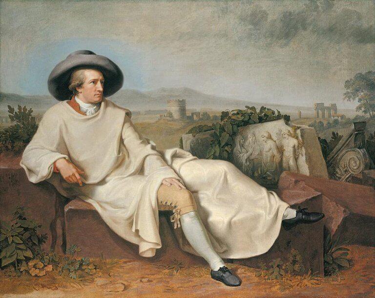 maleri af Goethe