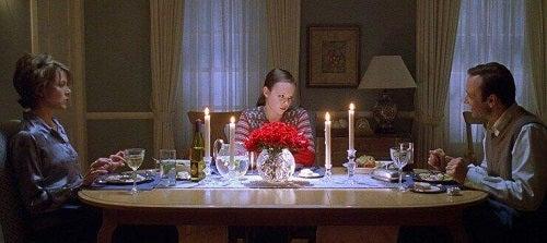 Middagsscene i American Beauty