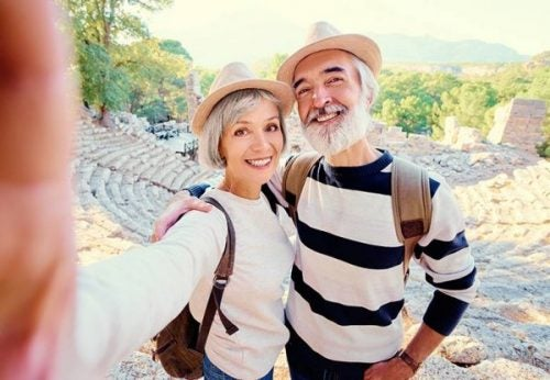Modent par på ferie