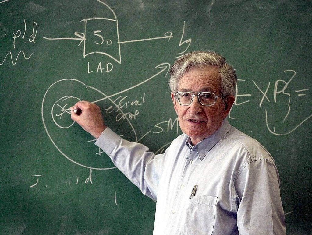 Noam Chomsky udviklede en teori om sprogindlæring