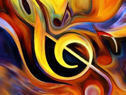 Maleri med node og farver