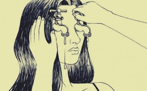 Vandehane som øjne