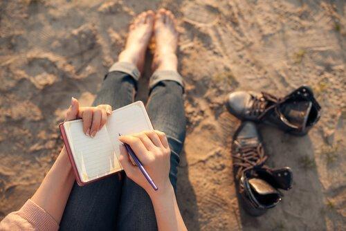 En dagbog er en god metode til at holde styr på dine tanker