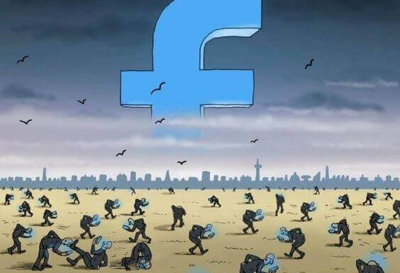 Alle har travlt med at følge med på facebook