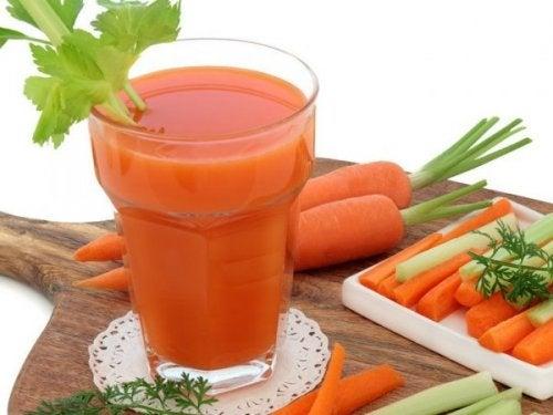 Gulerødder som del af en antidepressiv diæt