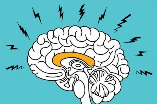 illustration symboliserer angstens indflydelse på hjernen
