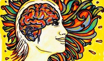 Fremstillingen af glæde i venstre hjernehalvdel