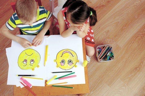 Børn er igang med at lære om følelser