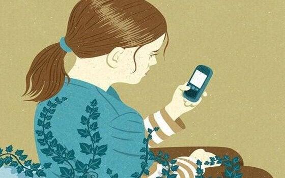 Pige oplever, at de sociale medier fanger os