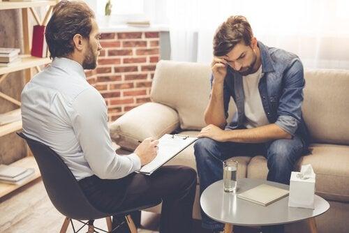 Psykolog med deprimeret klient