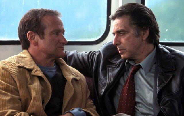 Al Pacino og Robin Williams i filmen Insomnia