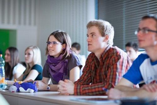 Studerende i klassen