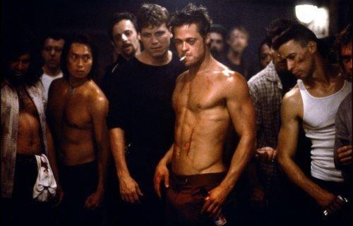 Fra den barske film Fight Club