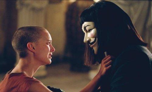 En scene fra filmen V for Vendetta, som du vil tænke over længe efter at have set den