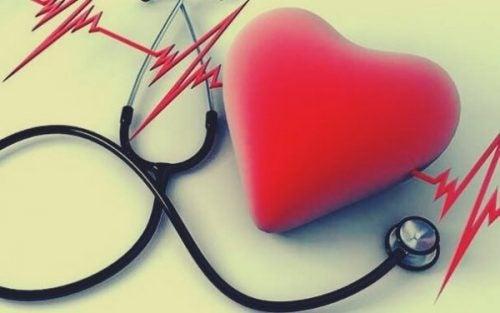 Hjerte symboliserer høj puls