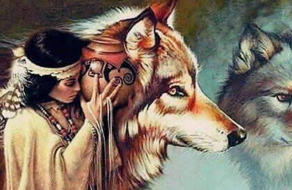 Dakota legenden om kvinden og ulvene