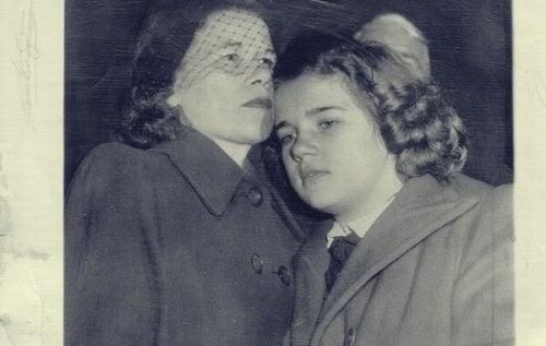 Sally Horner med sin mor