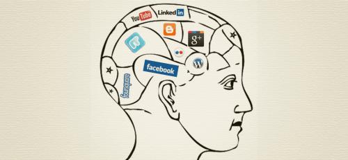 En hjerne med sociale netværk