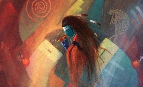 Maleri af en indfødt amerikaner
