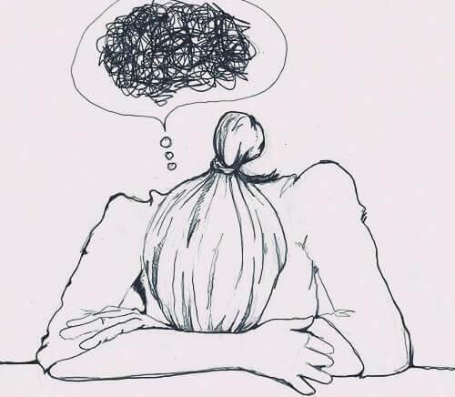 pige med angst, der tager anxiolytika