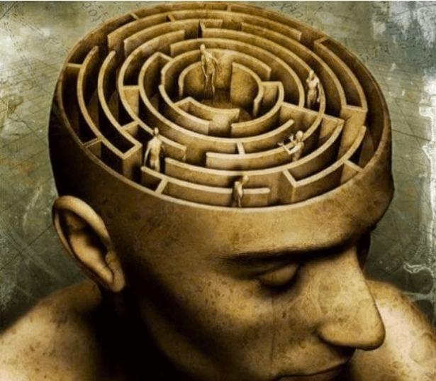 hjerne labyrint symboliserer et kontrolleret samfund som det af George Orwell i 1984