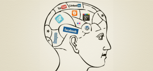 Logoer for sociale medier i hjerne