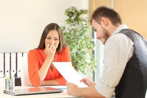 Kvinde til jobsamtale frygter personlighedsevaluering