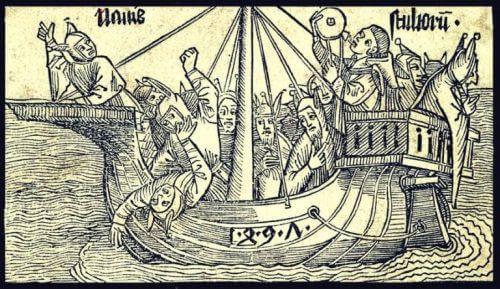 Myten om Narrenes skib går på, at psykisk syge mennesker blev sendt på en evig skibsrejse uden at se land igen