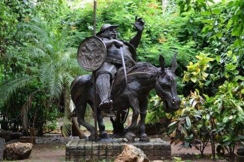 Sancho Panza var Don Quixote's tro væbner