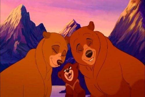 tre bjørne i filmen Bjørne Brødre