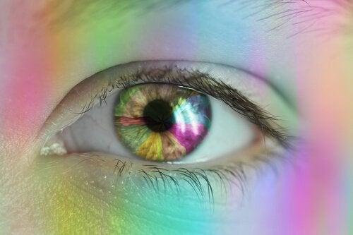 Regnbue foran øje
