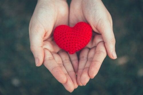 et strikket hjerte
