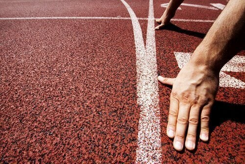 atlet på startbanen