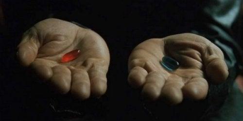 den blå eller røde pille