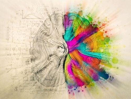 Illustration af sindets følelsesmæssige og rationelle sider, der skal være i harmoni for at opnå personlig balance