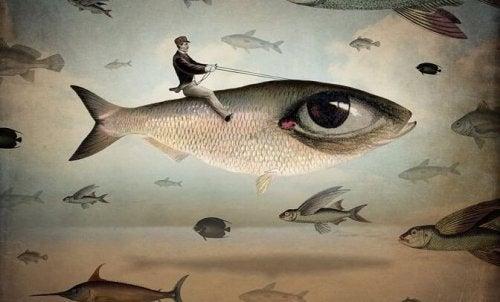 en fisker er symbol på at være tålmodig