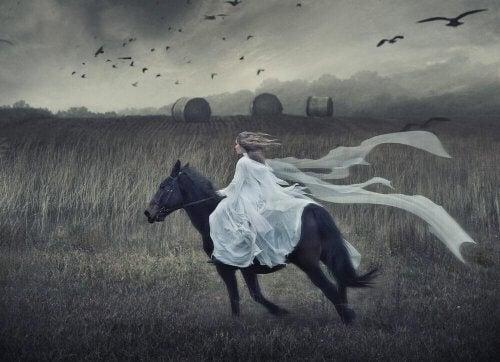 Forvaltningen af de rationelle og følelsesmæssige hjernehalvdele kræver balance, ligesom at ride på en hest