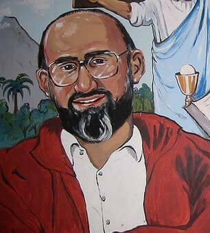 Et portræt af Martín-Baró viser ham smilende venligt
