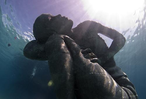 En skulptur af Jason deCaires Taylor