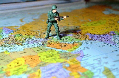 Lille soldat på verdenskort