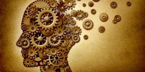hoved med tandhjul symboliserer hukommelsens syv synder