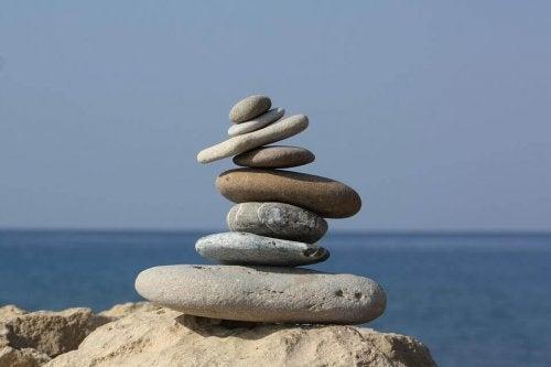 sten på en strand